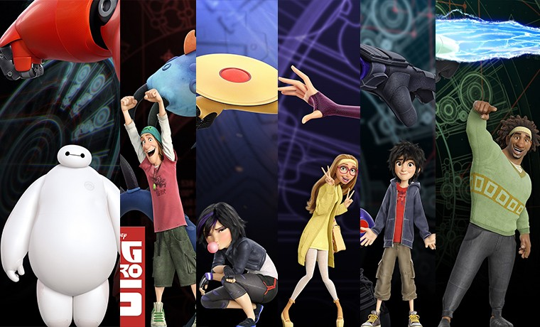 Carteles protagonistas 6 Héroes (Big Hero 6)