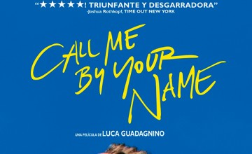 Póster del drama romántico Call Me By Your Name