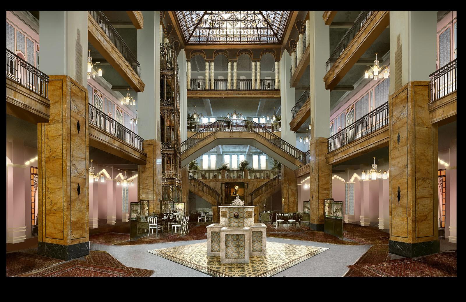 Entornos de El Gran Hotel Budapest, Arte Conceptual por Ulrich ...