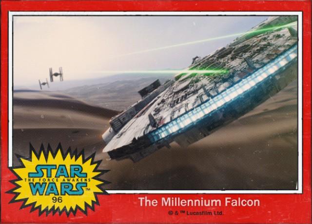 Halcón Milenario-Cromo Star Wars 7