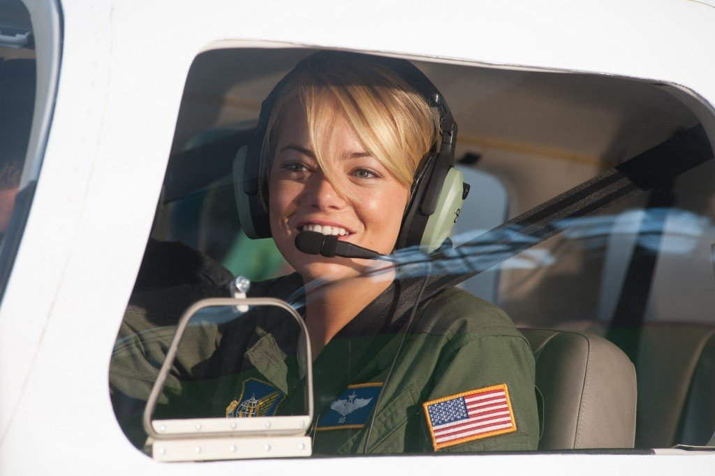 "Emma Stone stars in Columbia Pictuers' ""Aloha,"" also starring Bradley Cooper and Rachel McAdams."