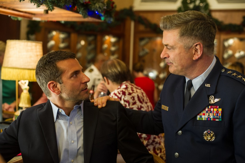 "Bradley Cooper, left, and Alec Baldwin star in Columbia Pictures' ""Aloha,"" also starring Emma Stone."