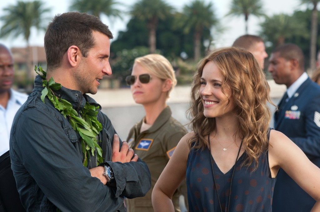 """L-r, Bradley Cooper, Emma Stone and Rachel McAdams star in Columbia Pictures' """"Aloha."""""""