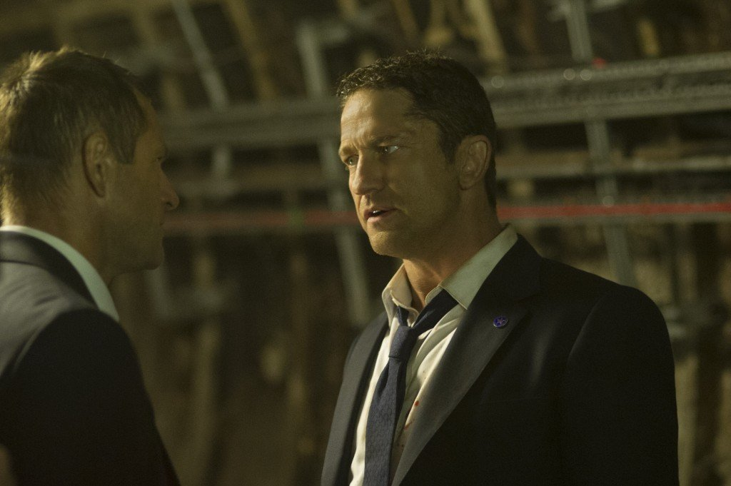Benjamin Asher (Aaron Eckhart) y Mike Banning (Gerard Butler)
