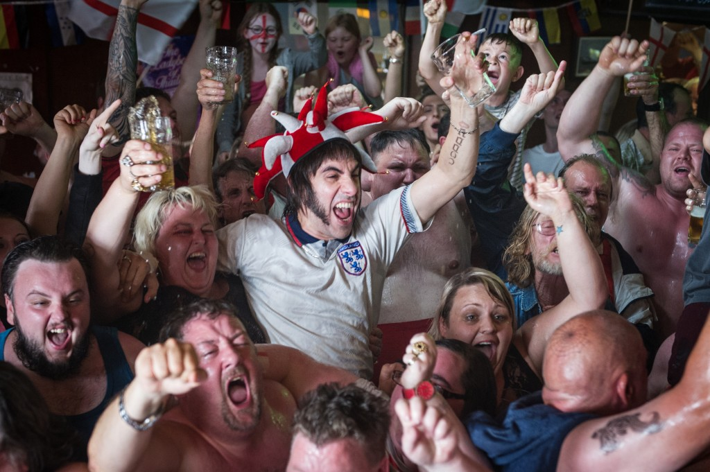 Sacha Baron Cohen (center) stars as Nobby in Columbia Pictures' THE BROTHERS GRIMSBY.
