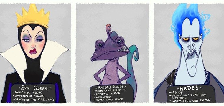 Los Retratos Policiales De Los Villanos De Disney Fan Art