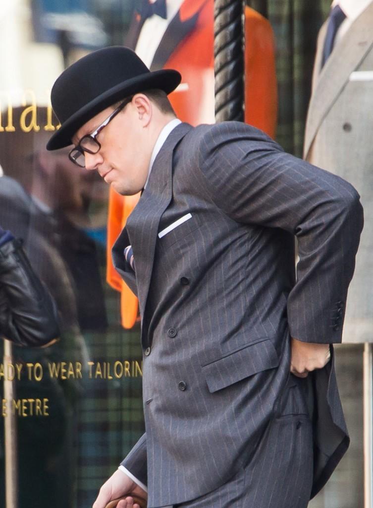 Channing Tatum films scenes for 'Kingsman: The Golden Circle'
