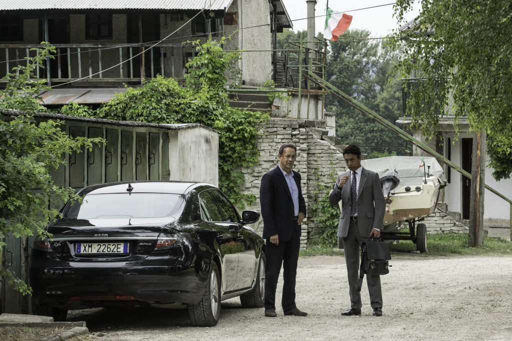 Tom Hanks junto a Irrfan Kahn.