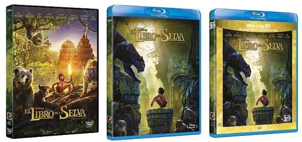 El libro de la selva-caratulas-dvd-bd