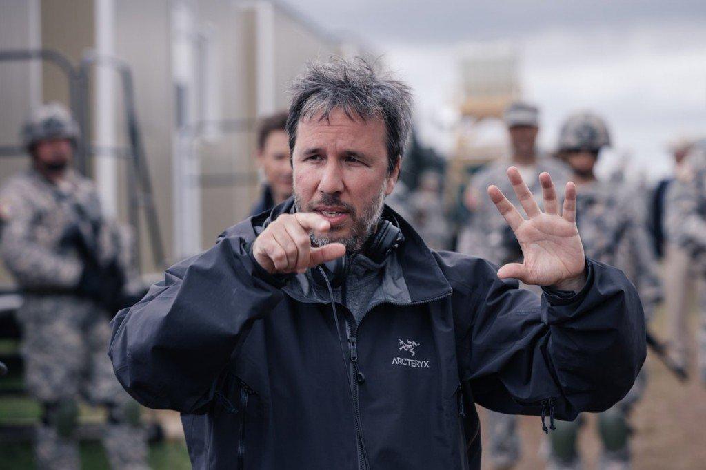 Villeneuve en el set de La Llegada.