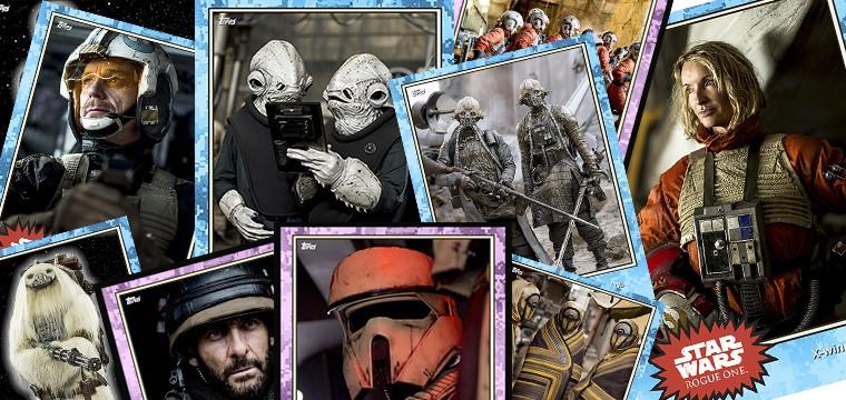 Presentación de nuevos personajes de Star Wars Rogue One en forma de cromos