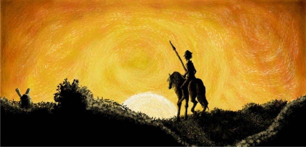 Don Quijote y su caballo Rocinante