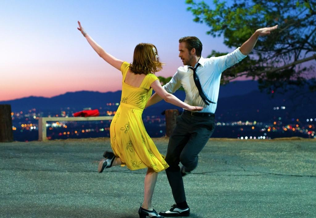 Stone y Gosling en La La Land