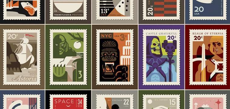 Pop Culture Postage los sellos pop art diseñados por Clark Orr