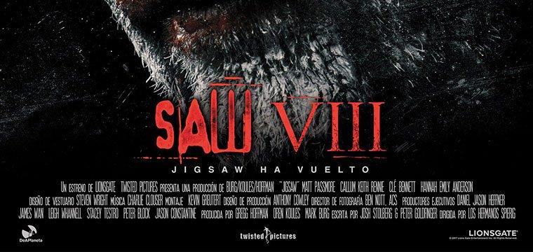 Poster Final De La Cinta De Terror Saw Viii