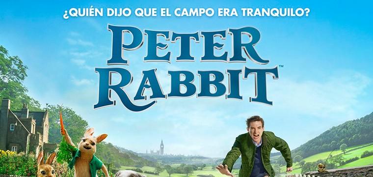 Póster de la adaptación en animación y en vivo de PETER RABBIT