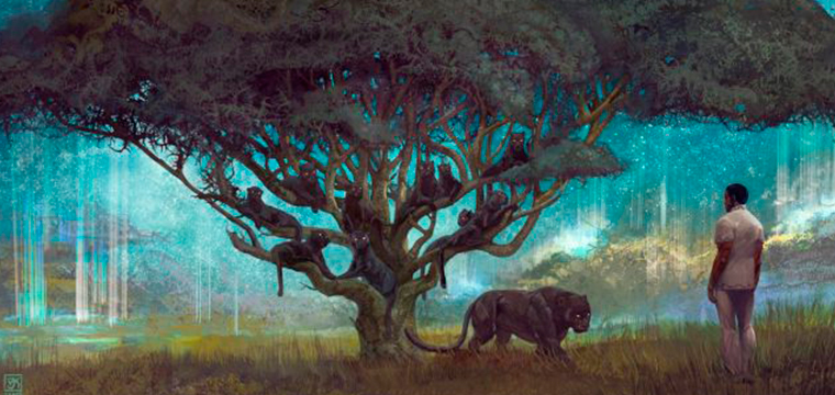 El arte conceptual de Black Panther por Vance Kovacs