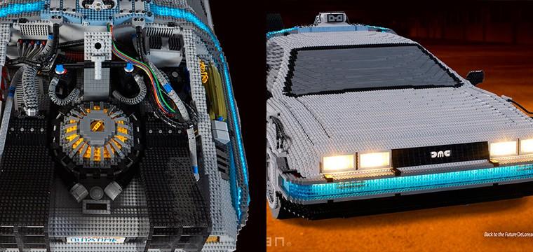 Construyen un LEGO gigante del Delorean de Regreso al Futuro