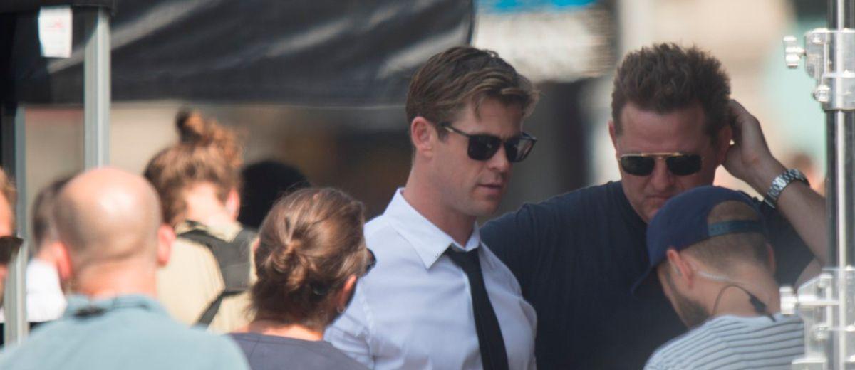 Primeras imágenes de Chris Hemsworth en el reboot de MIB