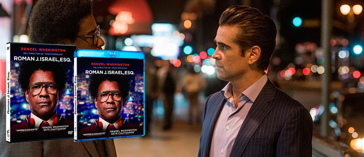 Llega a DVD/BR lo último de Dan Gilroy, Roman J. Israel, Esq.