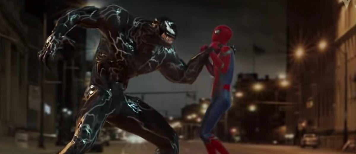 Fan vídeo CGI de Venom (Hardy) contra Spider-Man (Holland)