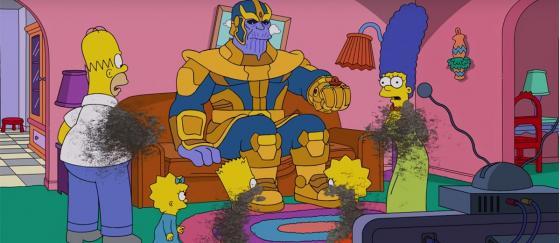 Thanos visita a LOS SIMPSONS en esta intro