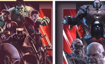 Los Héroes y los Villanos unidos en estos pósters de John Guydo