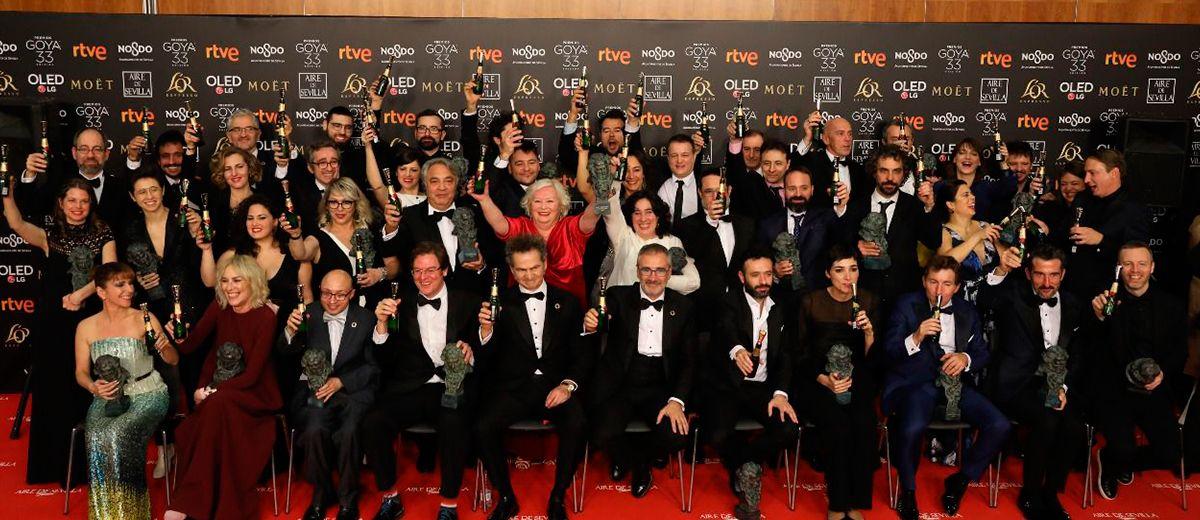 Lista de los galardonados en los GOYAS 2019