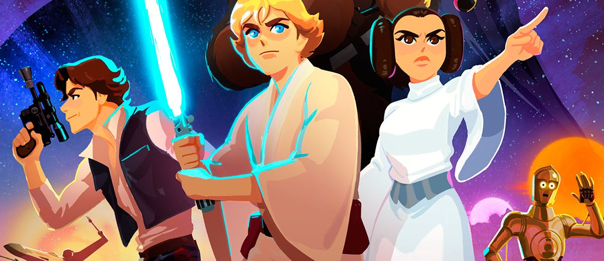 Avances de STAR WARS: GALAXY OF ADVENTURES con Luke, Leia, Vader y Yoda